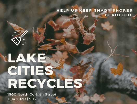 Lake cities Recycle -Fall Sweep