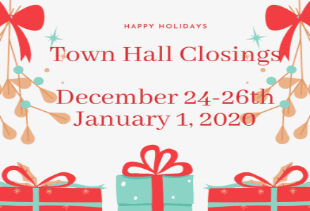 Town hall Closings